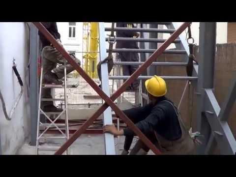 Εμπειρία & Τεχνογνωσία, στην κατασκευή  Μεταλλικής σκάλας διαφυγής  5 ορόφων