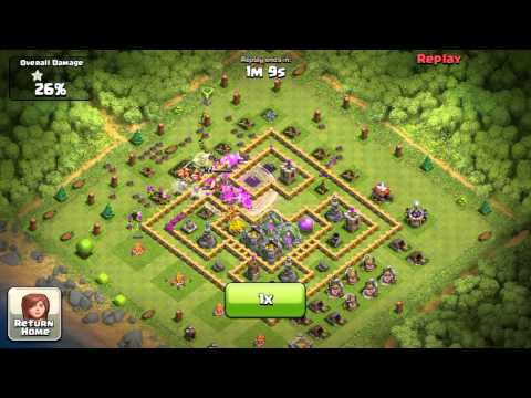Clash of clans Air attack on a monday morning -- clash of clans