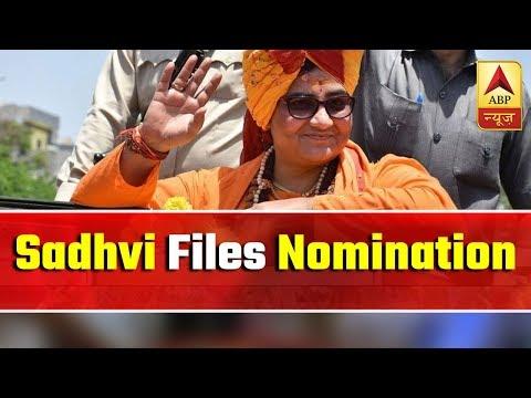 Sadhvi Pragya Files Nomination For Lok Sabha Polls | ABP News