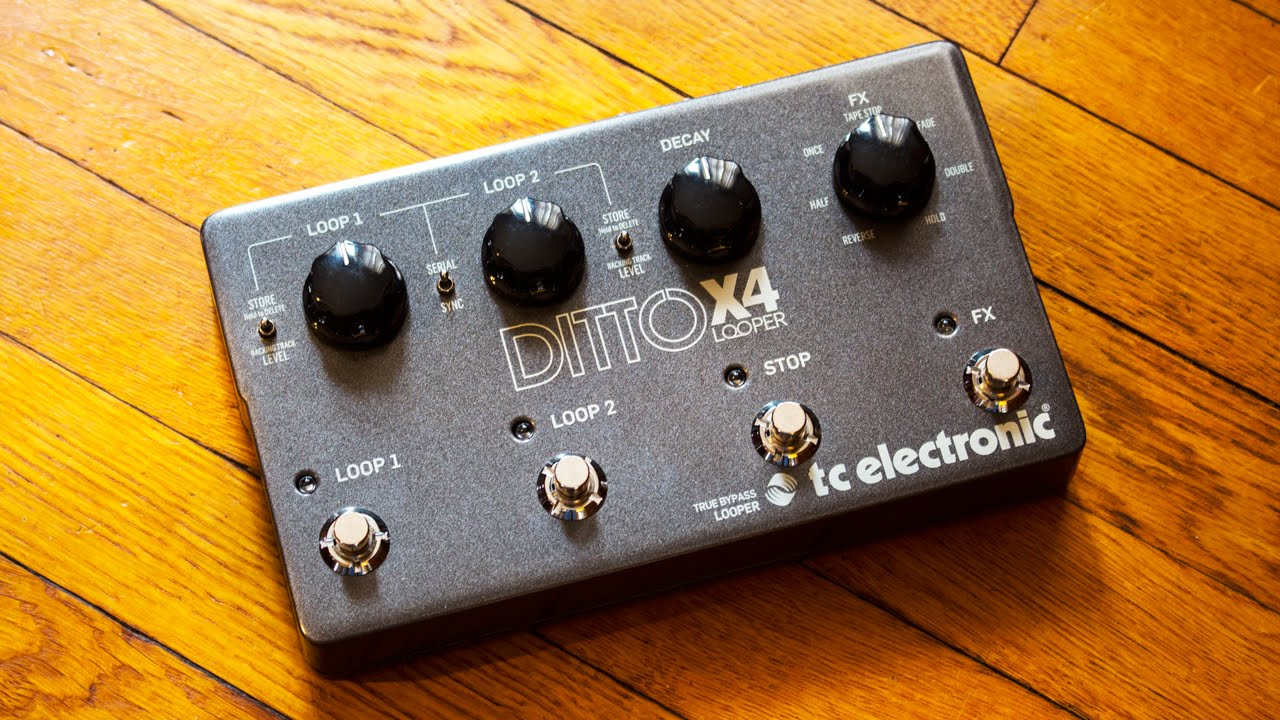 tc electronic ditto x4 looper features and demo ambient guitar gear review youtube. Black Bedroom Furniture Sets. Home Design Ideas