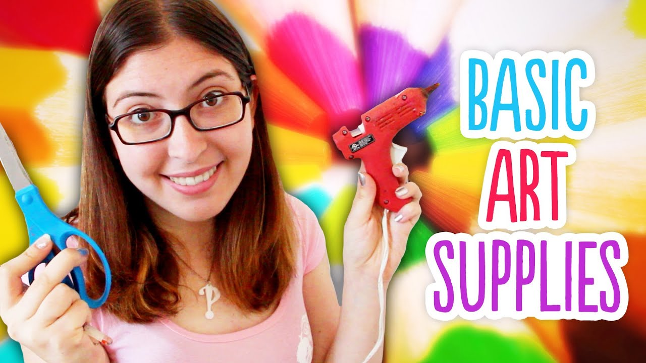 Cheap arts and crafts supplies - Basic Art Supply Kit Great For Back To School Or Beginner Diy Projects Youtube