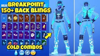 "NEW ""BREAKPOINT"" SKIN Showcased With 150+ BACK BLINGS! Fortnite BR (BEST BREAKPOINT SKIN COMBOS)"