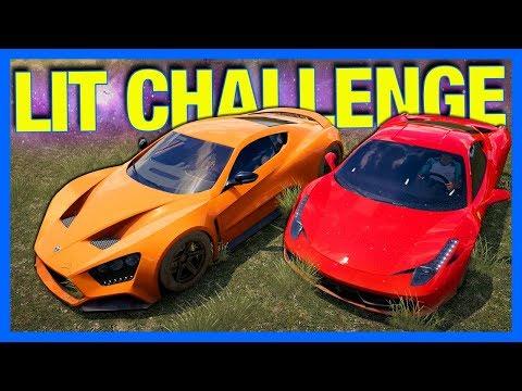 Forza Horizon 3 Online : THE GET LIT CHALLENGE!!