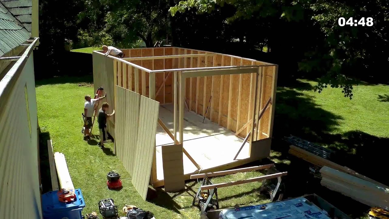 14x24 Shed Build Timelapse