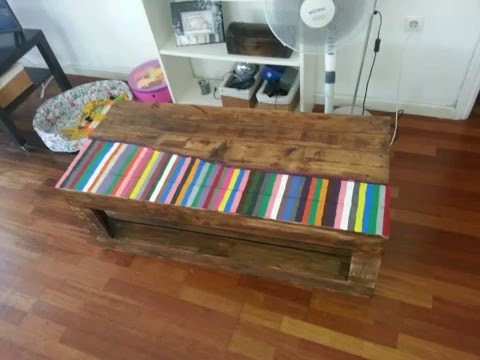 Como hacer mesa con palets reciclados diy table with for Como hacer mesa de trabajo con palets