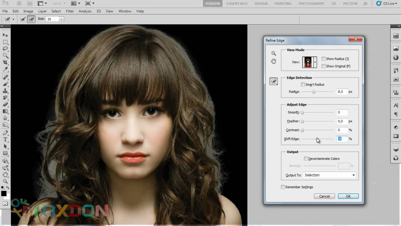 Como recortar una foto en photoshop cs5 62
