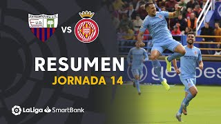 Resumen de Extremadura UD vs Girona FC (1-3)