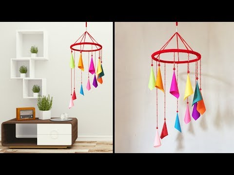 Wall Decor Crafts Idea // Wind chime Craft Ideas // Home Decor Wall Hanging #DotsDIY