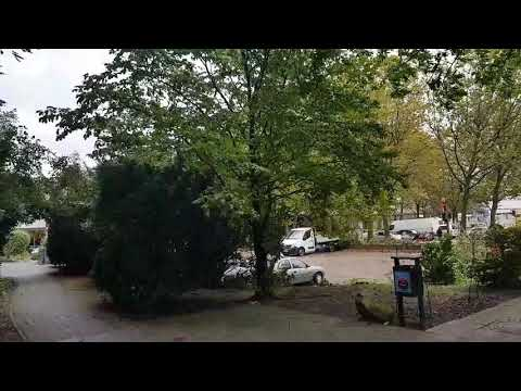 Extreme weather in Berlin October 5, 2017