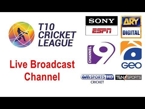 TCL – T10 Cricket Match Live on Ten Sports   GEO TV   Sony ESPN   Channel 9   ARY Digital Network