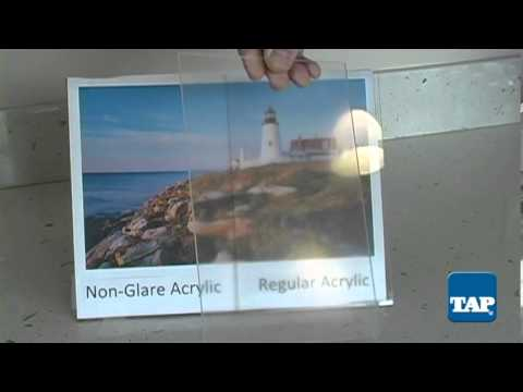 Non-Glare Acrylic - YouTube