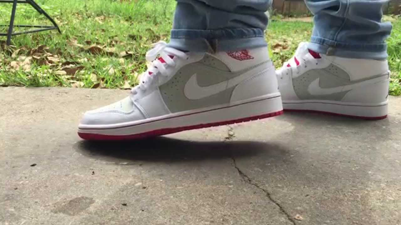 Jordan 1 Hare On Feet