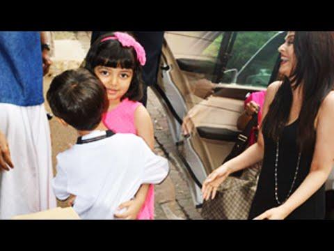 Aishwarya Rai - Aaradhya Bachchan HUGS, KISS Kiran Rao & Son