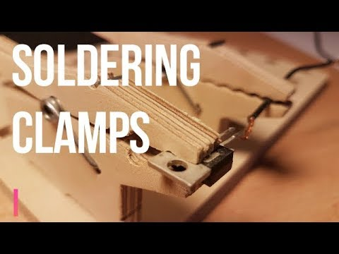How to make a clamps for soldering| DIY clamps