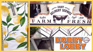 HOBBY LOBBY FARMHOUSE DECOR SHOP WITH ME 2019
