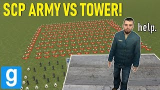 SCARY SCP ARMY VS TOWER! - Garry's mod Sandbox
