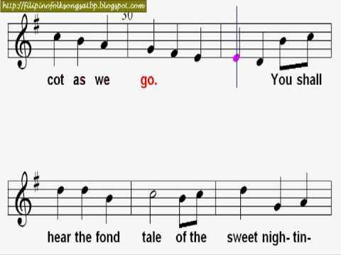 Sweet Nightingale (Karaoke with Music Notation) - English Folk Song