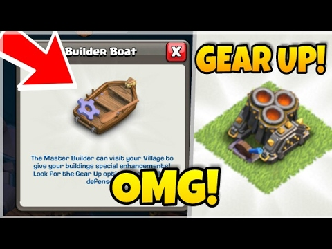 CLASH OF CLANS- HOW TO GEAR UP DEFENSES IN COC! DOUBLE CANNON AND TRIPLE MORTAR GEAR UP IN COC BOAT