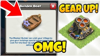 CLASH OF CLANS HOW TO GEAR UP DEFENSES IN COC! DOUBLE CANNON AND TRIPLE MORTAR GEAR UP IN COC BOAT