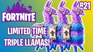 LIMITED TIME TRIPLE LLAMAS | FORTNITE #21