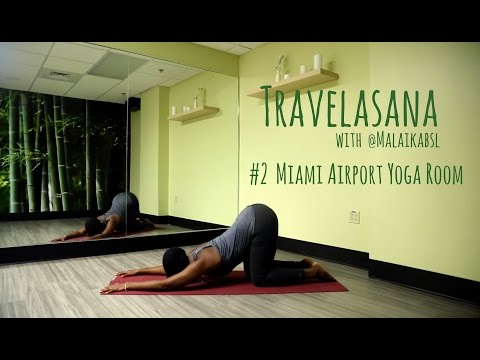 Miami Airport Yoga Room Break || Travelasana with Malaika