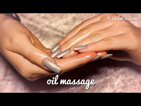 ASMR 💆    HAND MASSAGE with oil - oil sounds    20MINS    no talking 🤐   