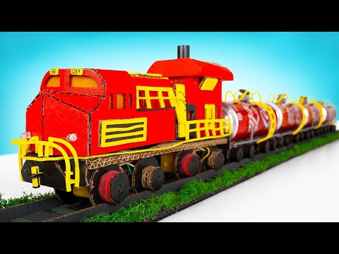 How To Make A Tanker Train From Coca Cola Cans