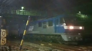 【EF210 桃太郎】 EF210-12牽引 貨物列車 5050レ 2018年1月7日 花月園前踏切