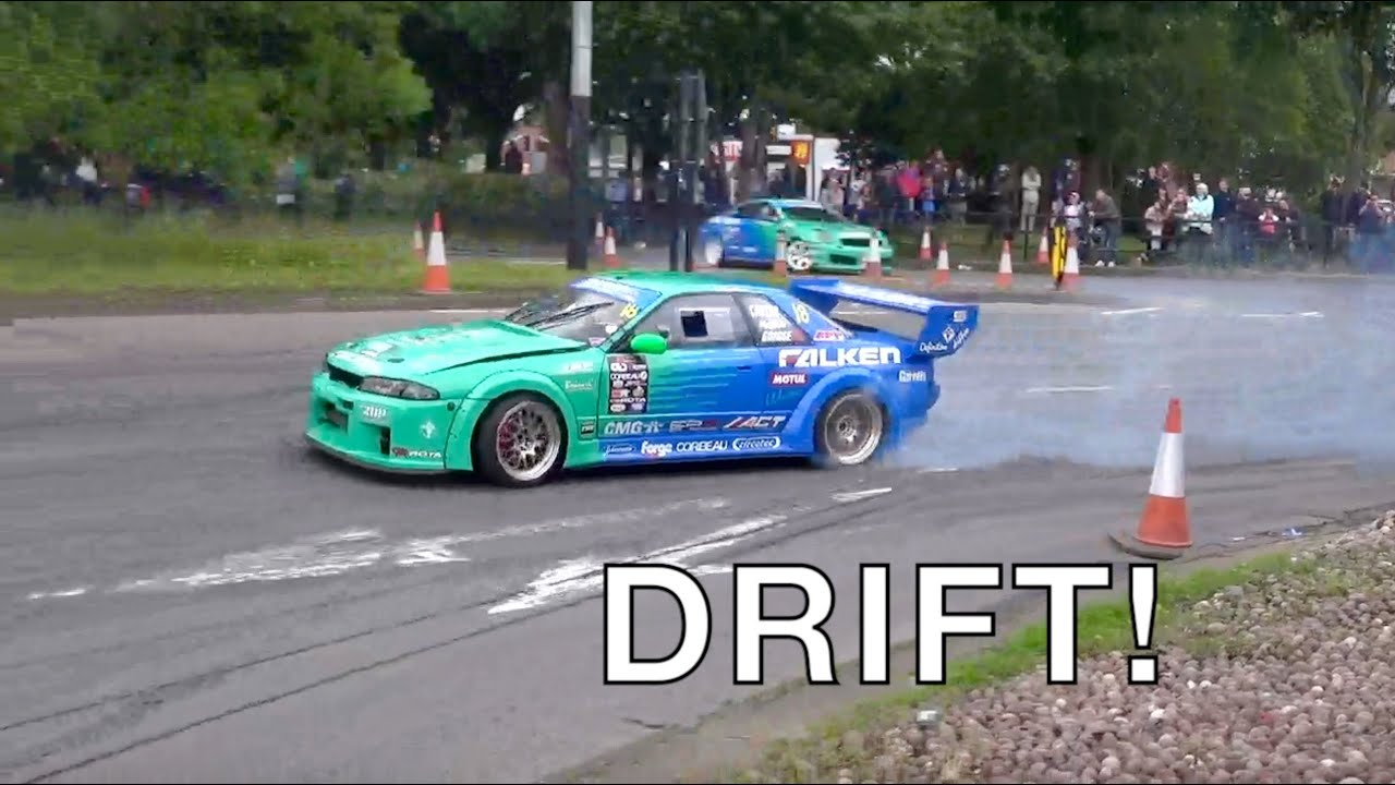 EPIC STREET DRIFTING!!! Nissan GTR's & Silvia's Awesome Sounds + Flames