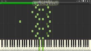Deltarune - Gallery Theme Piano Tutorial Synthesia
