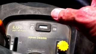 John Deere L120 Mower Operations