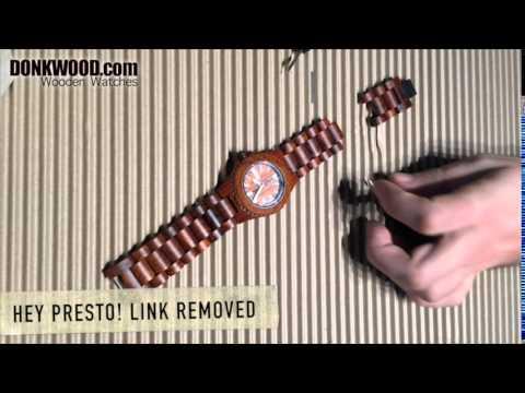 Wooden watch adjust strap