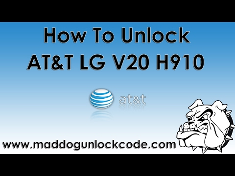 How To Unlock AT&T LG V20 H910 - YouTube