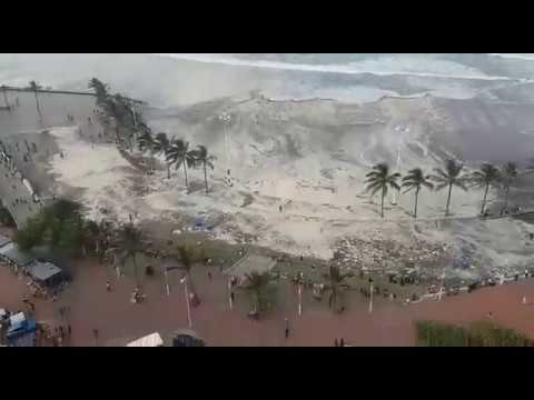 Tsunami hits Durban Beach?!