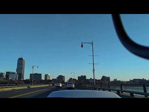 Driving from Cambridge to Boston to Cambridge, a commute with a clear day.