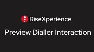 RiseXperience   Preview Dial Interaction