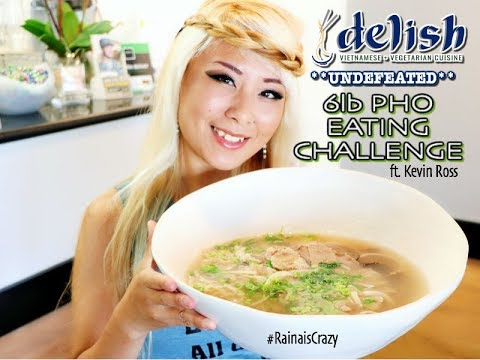 UNDEFEATED *New* 5lb Pho Eating Challenge in Temecula ft. Kevin Ross | RainaisCrazy