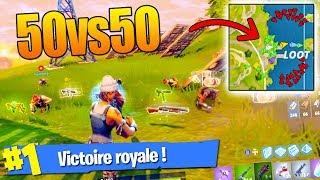 C'EST LA GUERRE EN MODE 50vs50 !! (Fortnite Battle Royale)