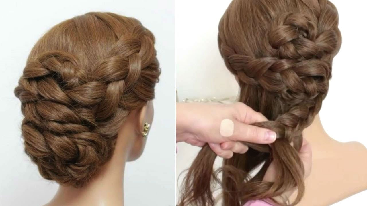 Easy Braided Prom Updo Hair Tutorial Formal Hairstyles