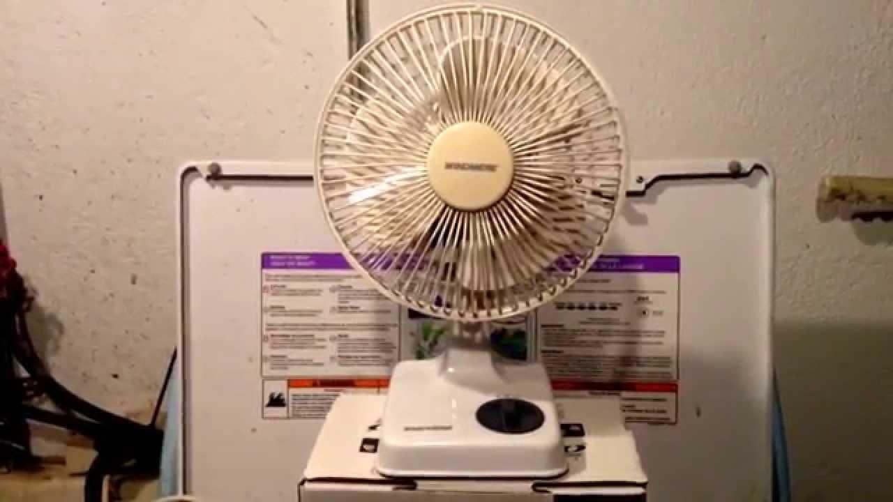 Windmere 7 Oscillating Fan : S windmere quot desk fan model nr youtube