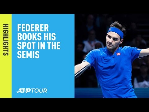 Highlights: Federer Books His Spot In Semis Of The 2018 Nitto ATP Finals