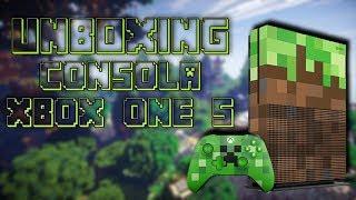 Unboxing Consola Xbox One S Minecraft Edition en Español (MX)