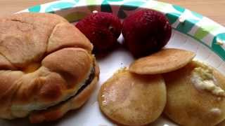Asmr Sausage, Egg, And Cheese Croissants W/silver Dollar Pancakes Whisper