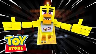 FIVE NIGHTS AT THE TOYSTORE #2 | CHICAS FOUND US ! Minecraft Little Kelly