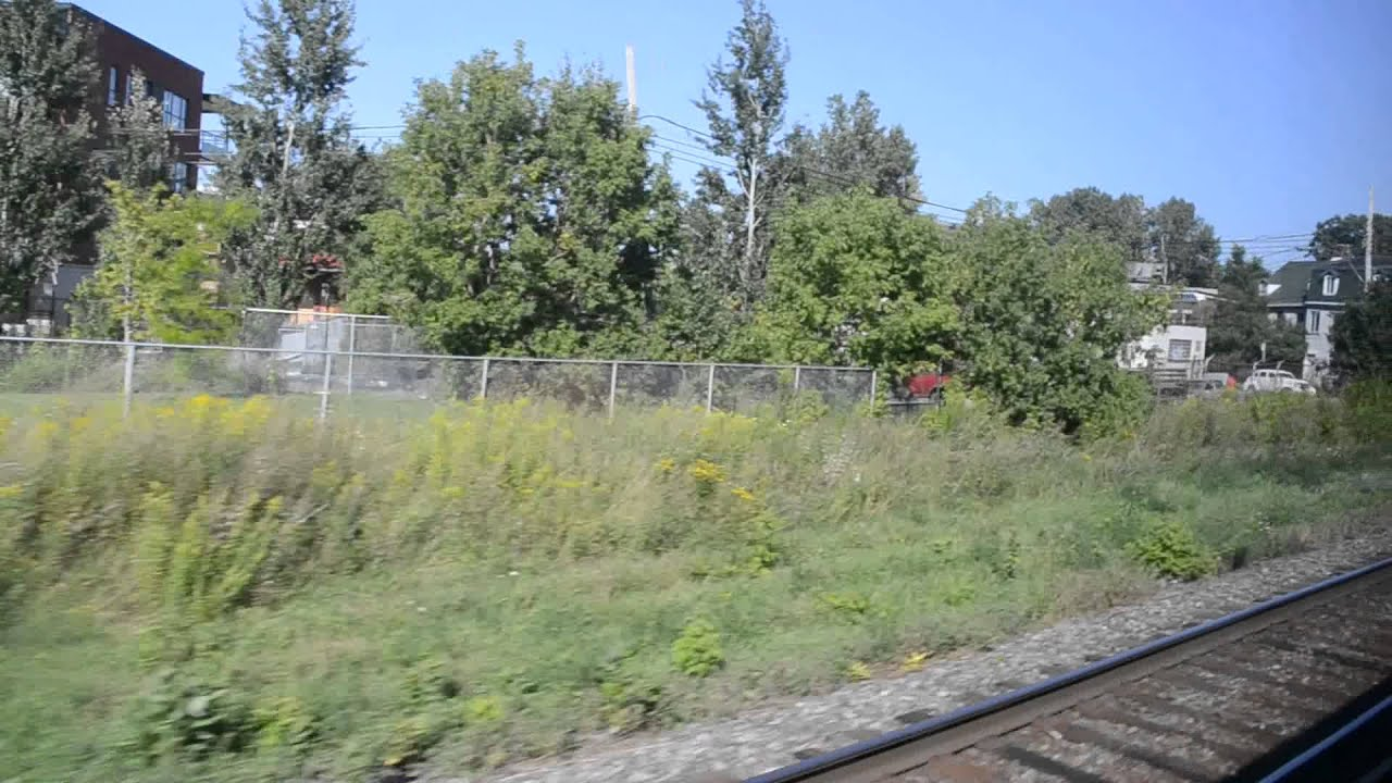 Lachine canal train crossing