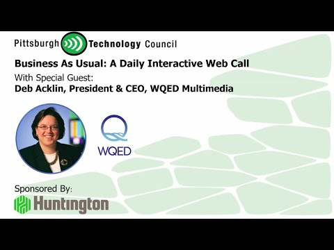 WQED's Deb Acklin Goes Live on Business as Usual