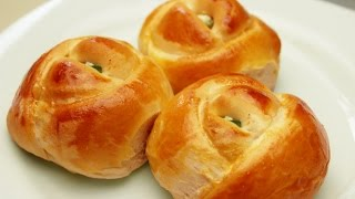 Rose Shaped Dinner Rolls Recipe - Turkish Pogaca Pastry