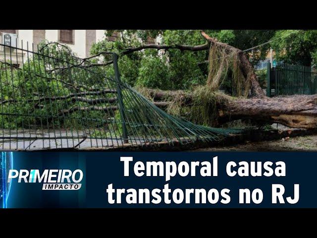 Chuva forte volta a causar transtornos no Rio de Janeiro | Primeiro Impacto (13/02/19)