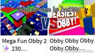 Roblox | Mega Fun Obby 2 | VS | Obby x10 | No editing