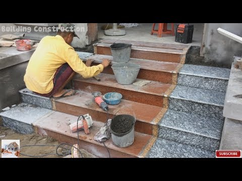 Beautiful Construction Design - Construction And Installation Of Granite On  The Porch